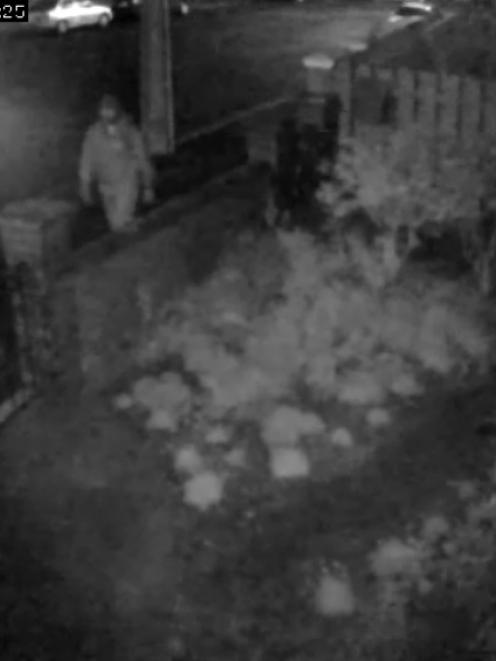 Still from CCTV footage of the person alleged to have stolen and  killed a pet rabbit from an...