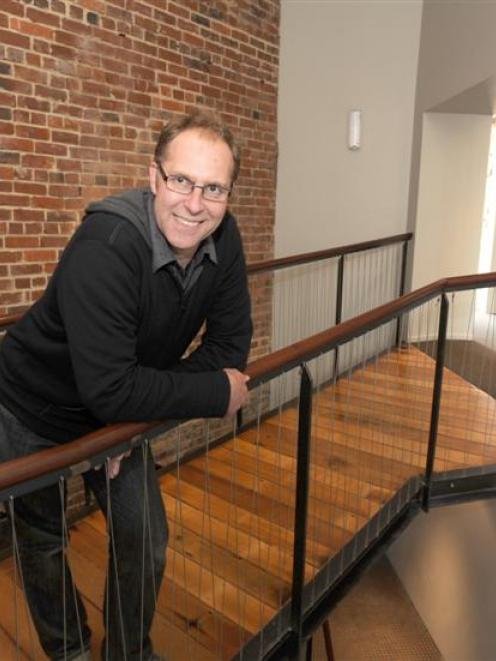 Structural engineer and developer of historic buildings Stephen Macknight in the restored Clarion...