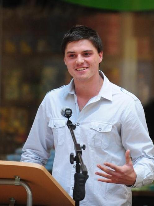 Student design award winner Samuel Brown.