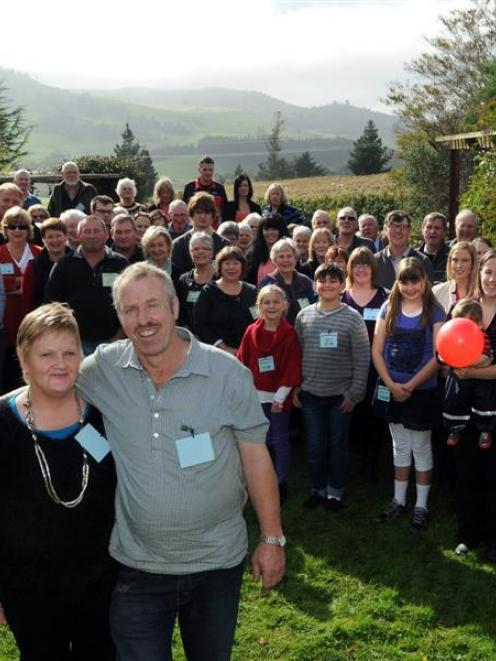 Sue and Philip Lee celebrate 100 years of the Lee family on their farm, with 90 members of the...