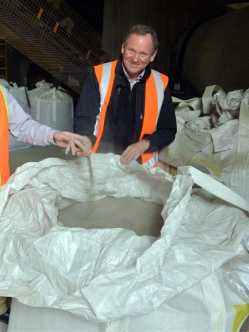 Superior Minerals director Lawrence Alloo (left) and manager David Hoseason-Smith at the company...