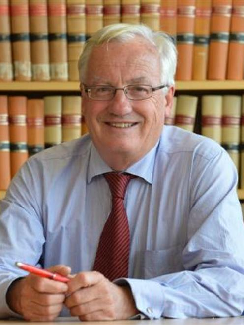 Supreme Court Justice Sir William Young QC in Dunedin this week. Photo by  Peter McIntosh.