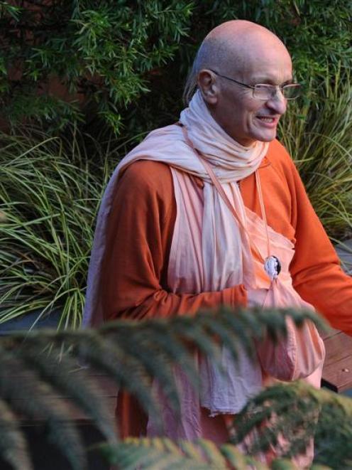 Swami Janananda Goswami in Dunedin yesterday. Photo by Craig Baxter