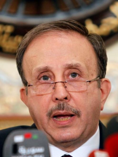 Syria's parliament speaker Mohammad al-Laham declares the results of the presidential elections...