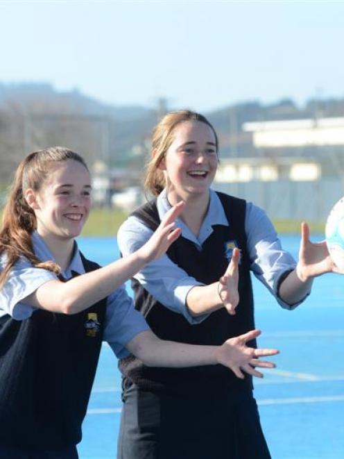 Taieri College netballers Natasha Renshaw (left) and Rachel Beattie had tournaments to remember...