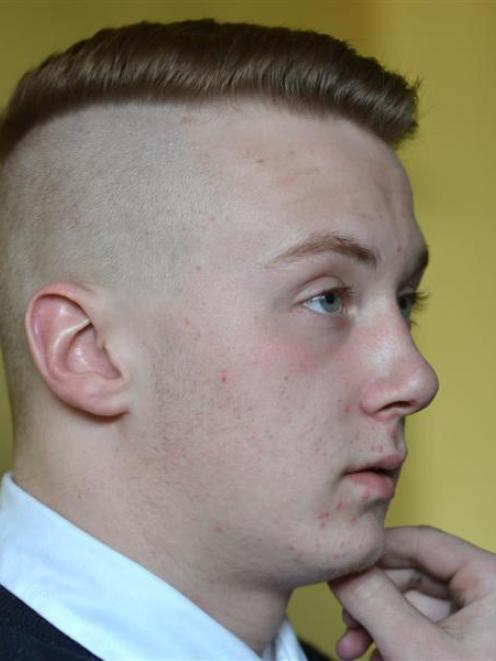 Taieri College pupil Kurtis Bain has been told: get a haircut or don't come to class. Photo by...
