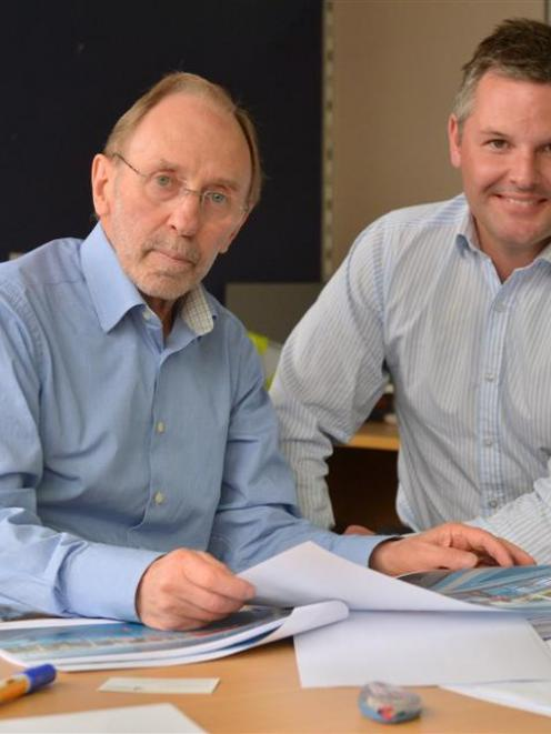 Taieri Community Facilities Trust chairman Michael Stedman (left) and Logic Group director Shaun...
