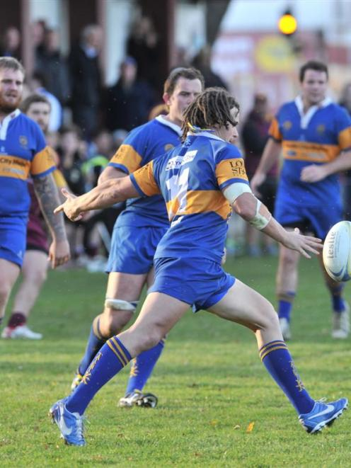 Taieri wing Shannon Young in action  against Alhambra-Union at the North Ground last month. Photo...