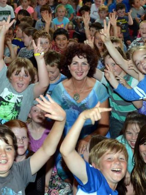 Tainui School principal Ros McQuillan-Mains says goodbye to her pupils at a special school...