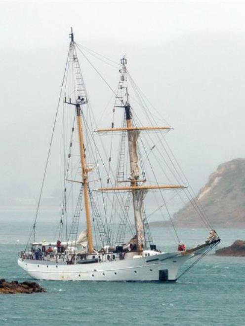 Tall ship SSV Robert C. Seamans, a research vessel  operated by the United States-based Sea...