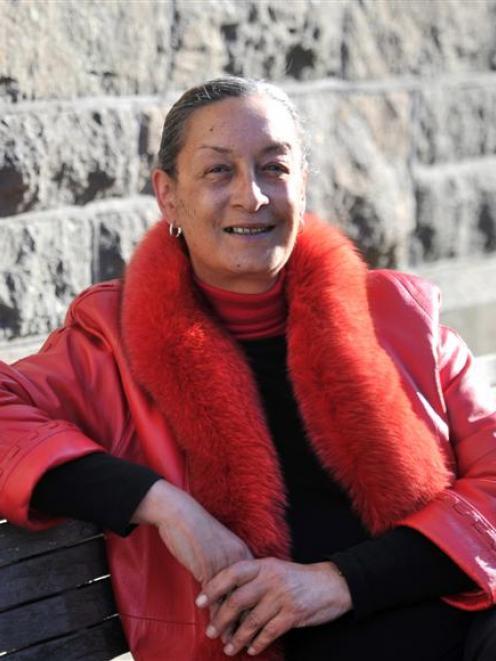 Te Tai Tonga candidate Georgina Beyer in Dunedin yesterday. Photo by Linda Robertson.
