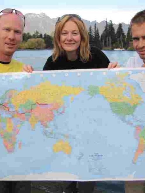Team Goodbye Pork Pie (from left), Marc Doran (24), Carmen Doran (28) and Brent Clements (25),...