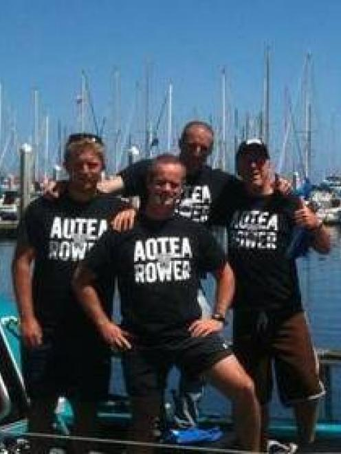 Team Pacific Rowers (l-r) Sam Collins, James Wight, Fraser Hart and Colin Parker. Photo: Facebook