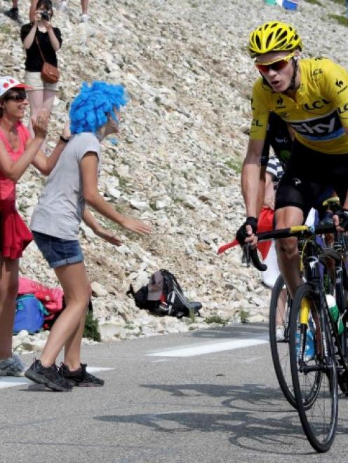 bf7e578d4 Team Sky rider Christopher Froome of Britain climbs the Mont Ventoux during  the 242.5km 15th