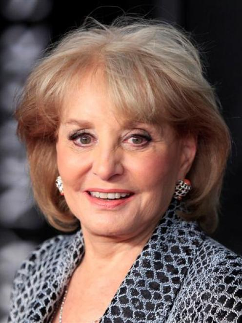 Television personality Barbara Walters, who was hospitalised earlier this month after falling and...