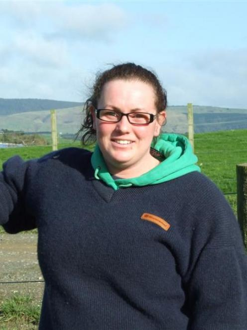 Telford Rural Polytechnic student Trudy Robertson, who graduates tonight, at Telford yesterday....