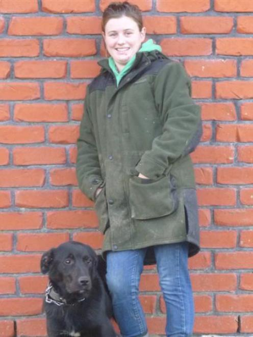 Telford student Alena Schwartfeger, pictured with her dog Smoke, is looking forward to a career...
