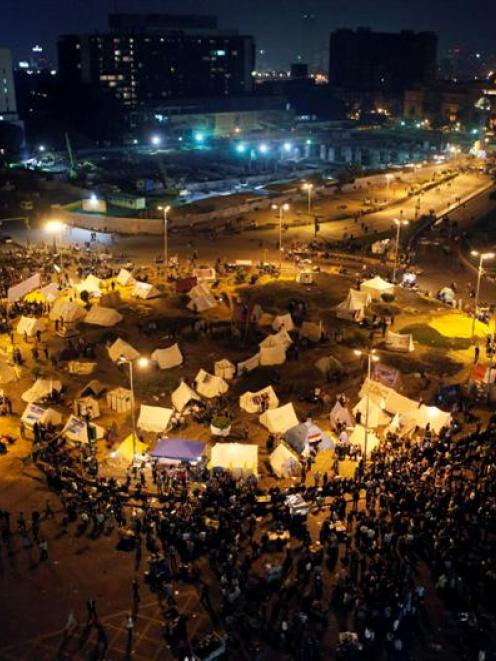 Tents in Tahrir square as protesters and activists continue with their sit-in in Cairo. REUTERS...