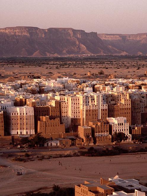The 16th century mudbrick towers of Shibam, in Yemen. Supplied photo