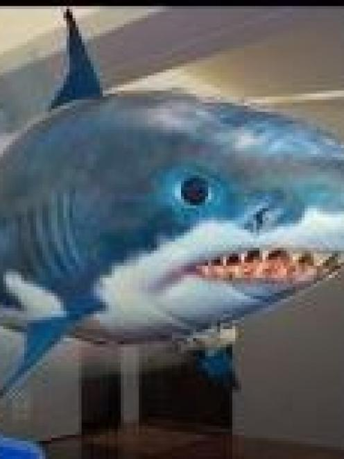 The Air Swimmer remote-controlled shark, similar to one seen by a pilot coming into land at...