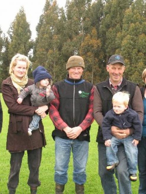 The Alderton family from Waitahuna, Otago winners of the Ballance Farm Environment Awards (from...