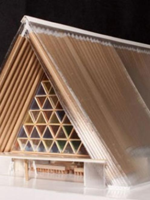 The Anglican Church has today revealed plans for a cardboard cathedral in Christchurch. Photo...