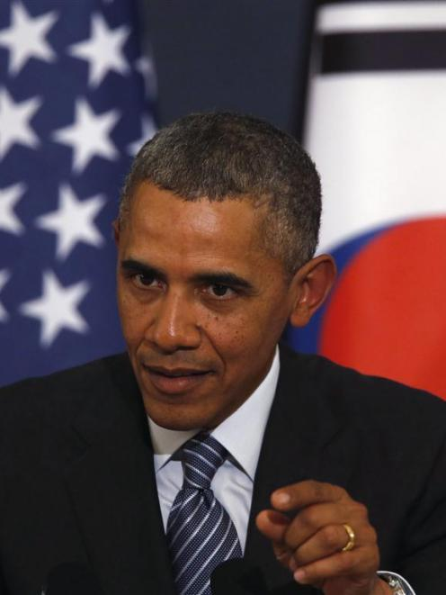 The announcement was made while US President Barack Obama was visiting South Korea. Photo by Reuters