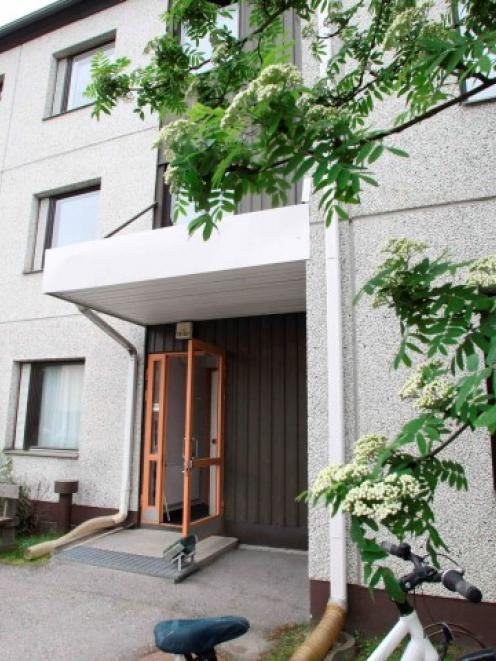 The apartment building where a 35-year-old woman, who was arrested on suspicion of the...
