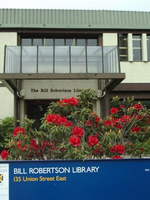 The Bill Robertson library on Union St, shared by Dunedin College of Education and Otago...