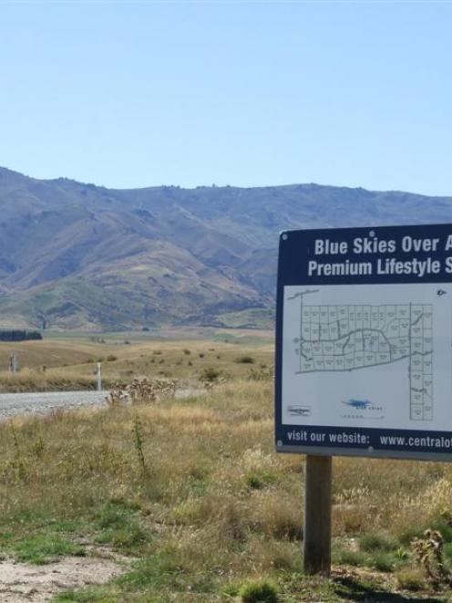 The Blue Skies subdivision at Springvale, near Alexandra. Photo by Lynda van Kempen.