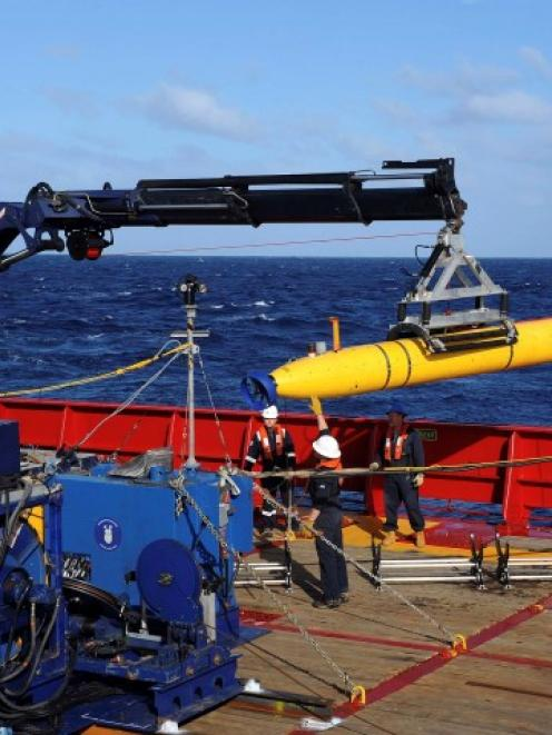 The underwater drone Bluefin-21 has a maximum operational depth of 4.5km. REUTERS/US Navy photo.