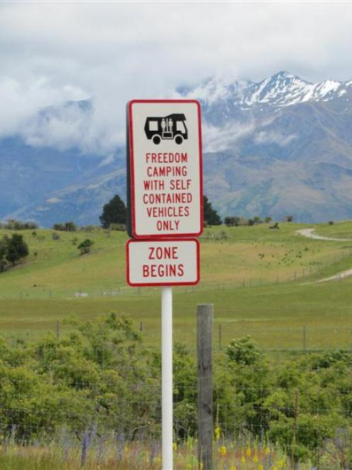 The boundary for freedom campers on Mt Aspiring Rd, Wanaka, has been moved further from Wanaka....