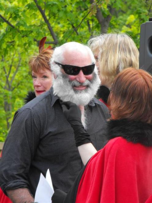 The Buckingham Belles, who judged the Arrowtown beard-growing contest yesterday,  took a liking...