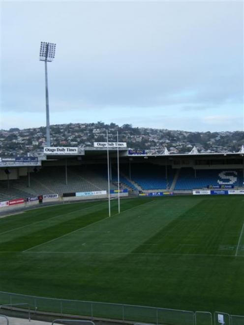 The Carisbrook Stadium field. Photo by Otago Images/The Star.
