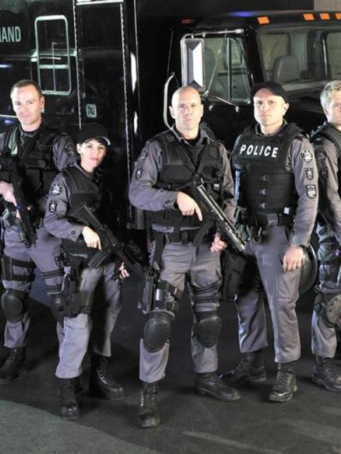 The cast of TV2's new police drama Flashpoint. Photo from TV2.
