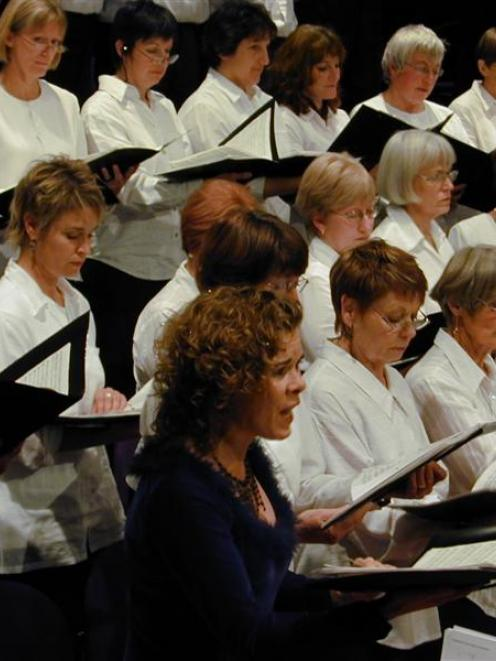 The Central Otago Regional Choir, with guest soprano Sue Densem, of Christchurch, in Wanaka in...