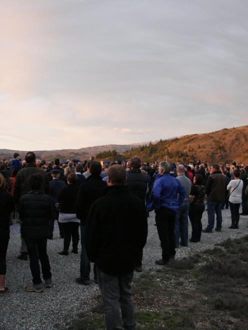 The Clyde dawn service was held at  Lookout Point  early on Saturday. PHOTO: JACQUI VAN DAM