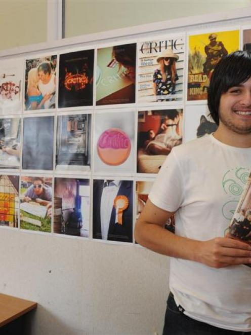 The cover designs of Critic art director Andrew Jacombs have won international praise. Photo by...