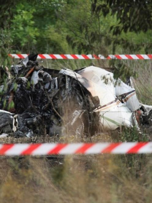 The crash site. REUTERS/Maciej Kuron/Agencja Gazeta