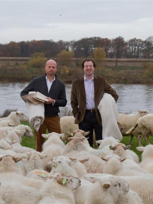 The developers of a new recyclable carpet, pictured in Europe, are Yvar Monasch, of Best Wool...