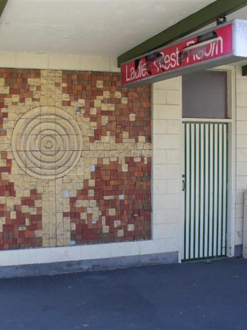 The distinctive exterior of the now-closed Ashburton women's restroom. Photo by Peter Donaldson.