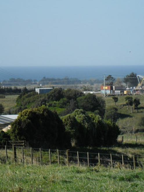 The drilling site at Tikorangi. File photo: NZ Herald/Paul Charman