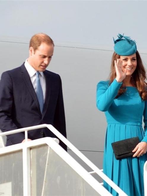 The Duke and Duchess of Cambridge Prince William and Catherine at the Dunedin International...