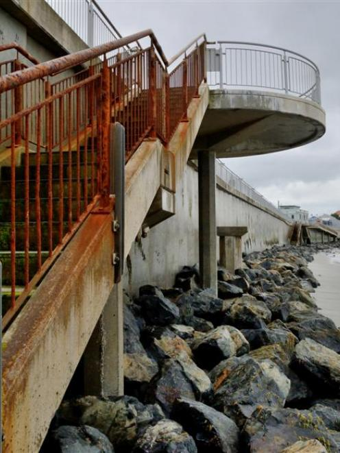 The Dunedin City Council plans to spend $850,000 maintaining the existing St Clair sea wall over...