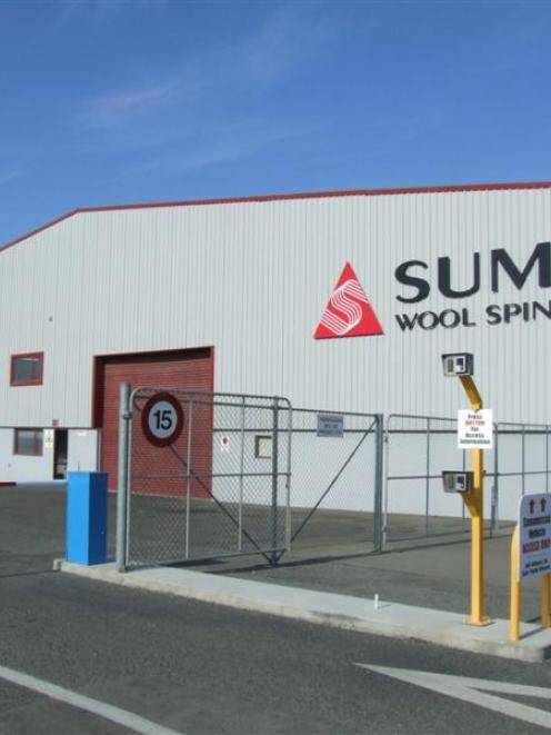The entrance to Summit Wool Spinner's Weaver St site. Photo by Sally Rae.