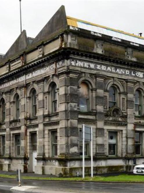 The exterior of the New Zealand Loan and Mercantile Agency Co Ltd building in Thomas Burns St, ...