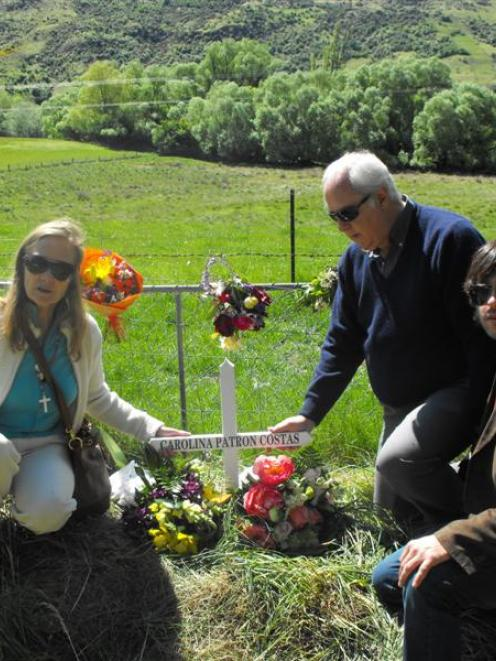The family of accident victim Carolina Patron Costas, her mother Magdalena, father Jose and...