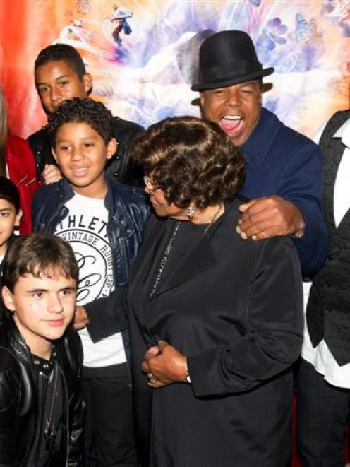 """The family of late singer Michael Jackson attend the premiere of """"Michael Jackson THE IMMORTAL..."""