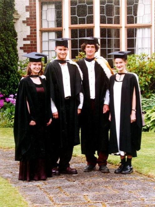 The Farry graduates (from left) Victoria, Gareth, Damon and Sasha. Photo: supplied