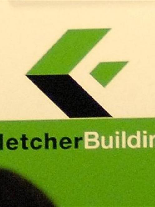 The Fletcher Building logo. Photo by ODT.